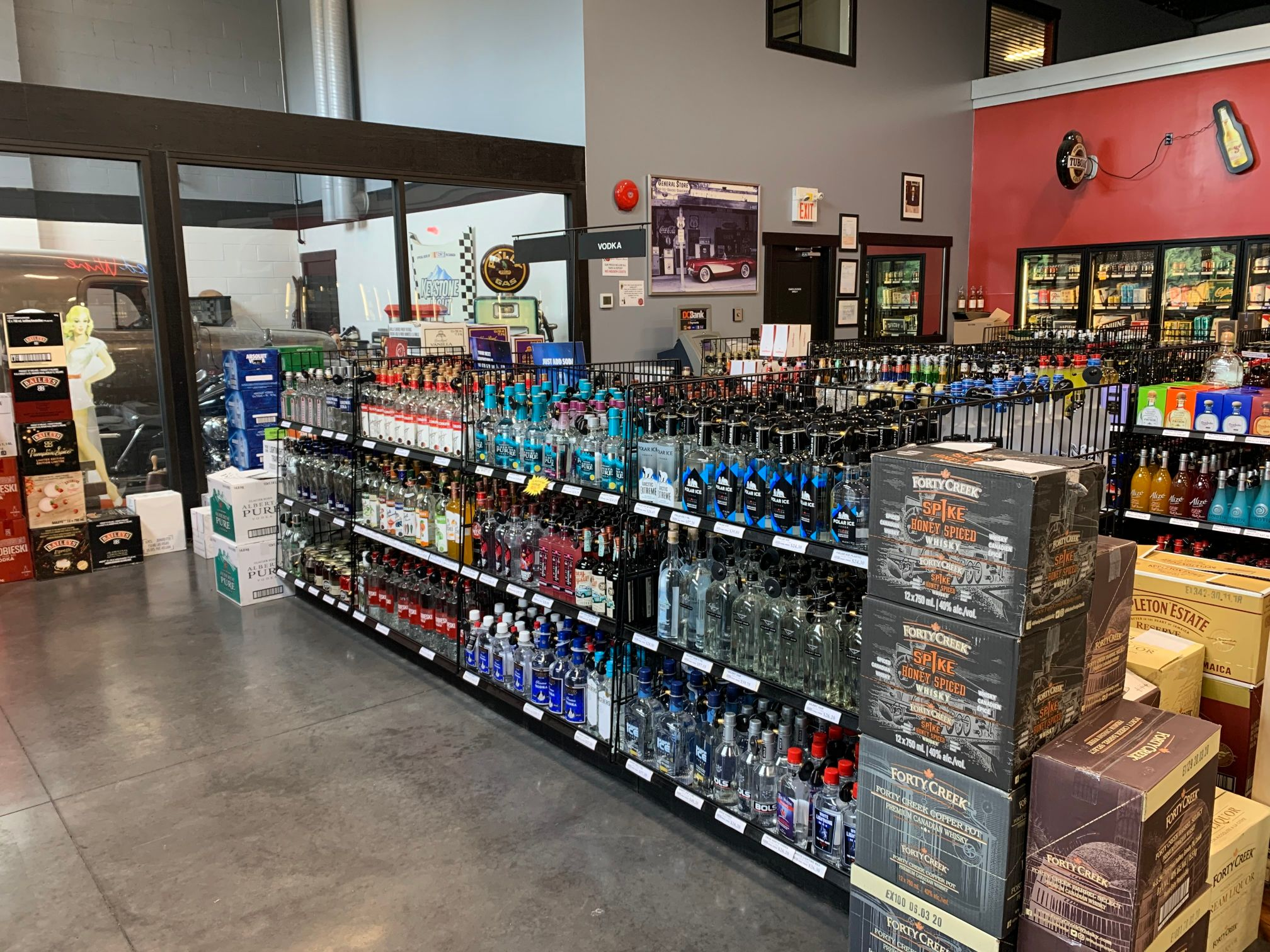 Liquor stock at the store