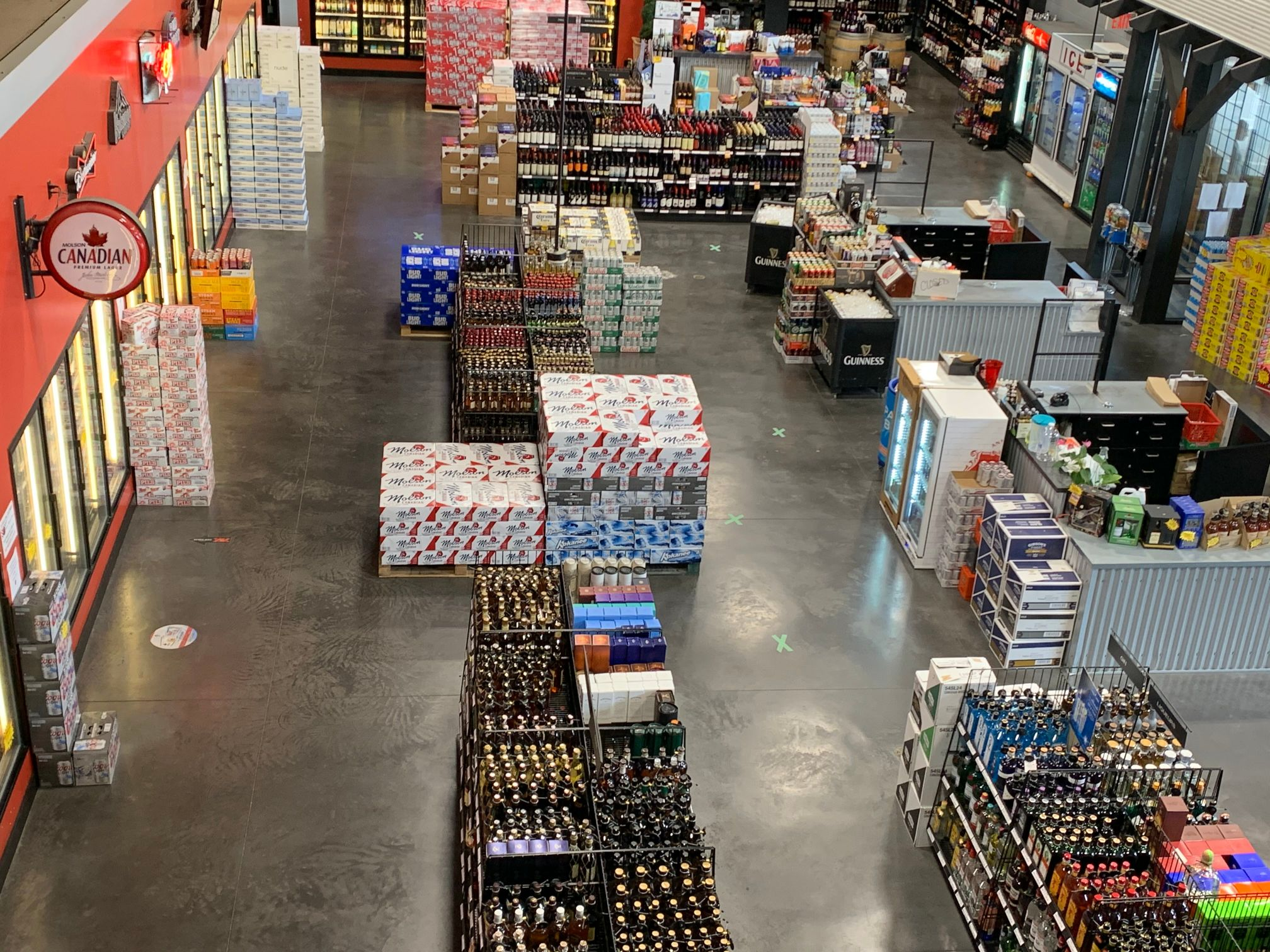 Top view of the Riders Liquor Store interior